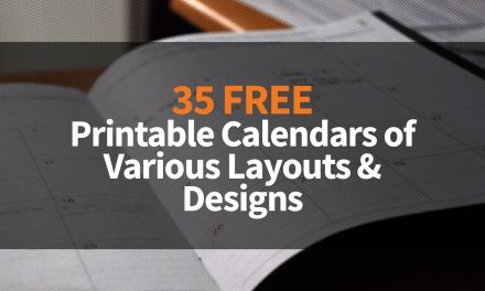 35 Free Printable Calendars of Various Layouts & Designs