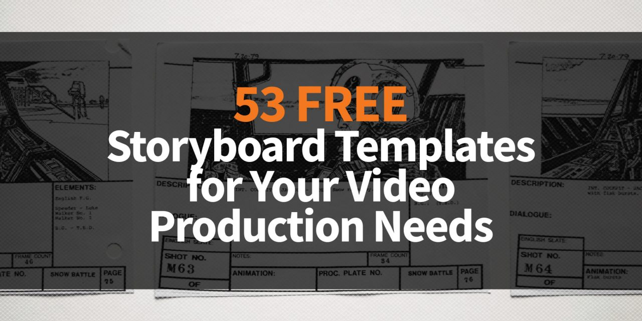 53 Free Storyboard Templates for Your Video Production, Moodboards or Any Other Planning Needs