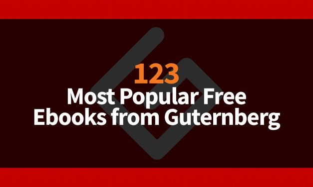 123 Most Popular Free Ebooks from Guternberg