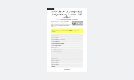 A Competitive Programming Course – Solving Problems Using Algorithms and Data Structures