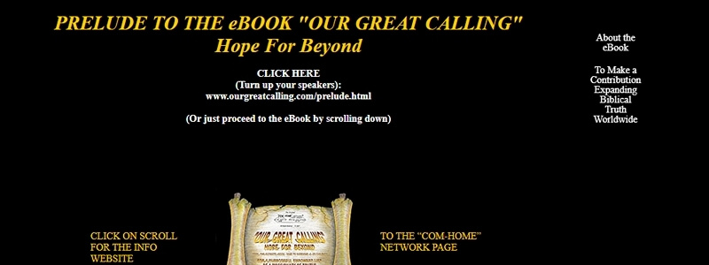 Our Great Calling - Hope for Beyond
