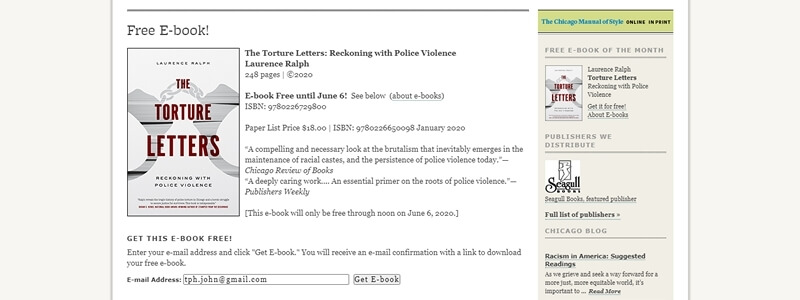 The Torture Letters: Reckoning with Police Violence