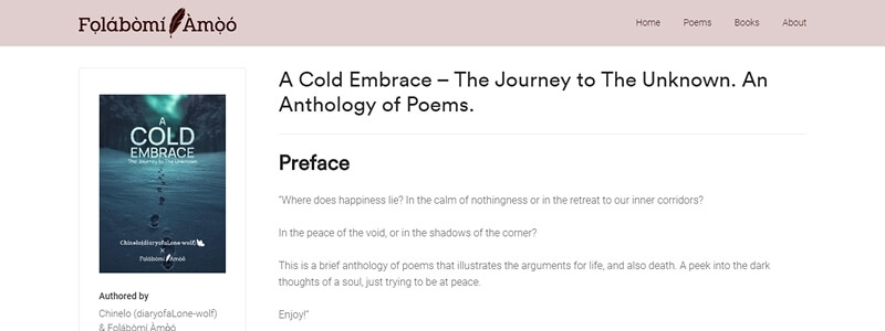A Cold Embrace - The Journey to The Unknown
