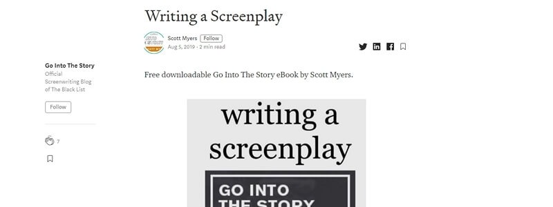 Writing A Screenplay - Go Into the Story