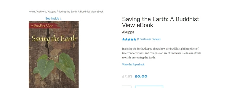 Saving the Earth - A Buddhist View