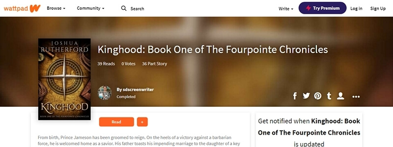 Kinghood - Book One of The Fourpointe Chronicles