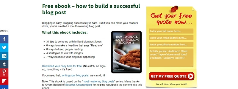How to Create Mouth-Watering Blog Posts