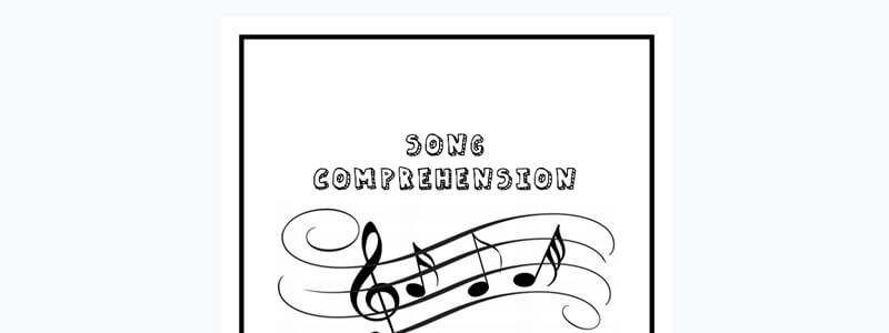 2 Free Song Comprehension With Answers