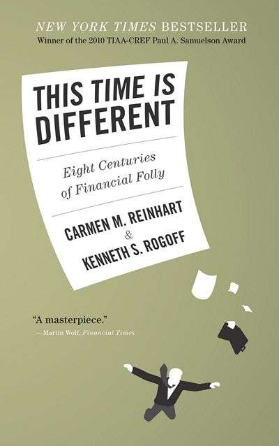 This Time Is Different: Eight Centuries of Financial Folly by Carmen Reinhart and Kenneth Rogoff