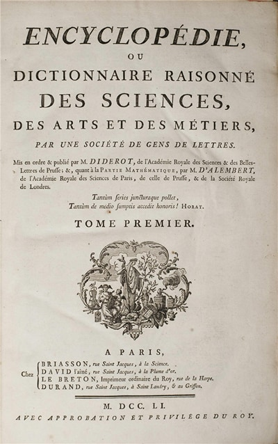 The Encyclopedia by Diderot